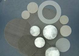 filter discs are made of metal wire mesh